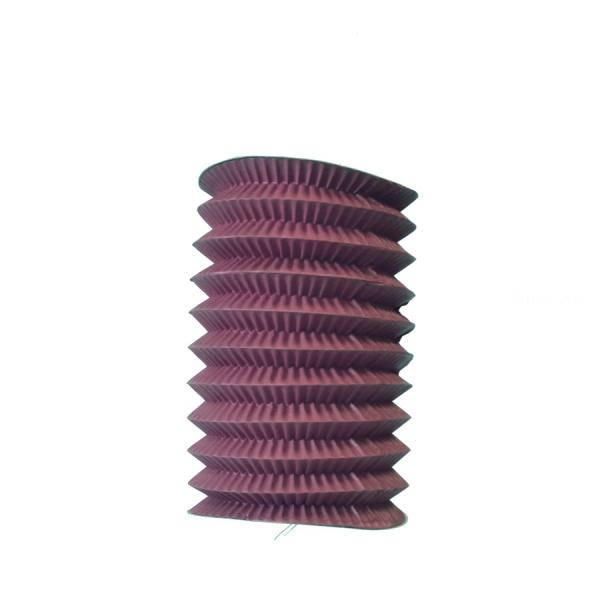 1 lampion cylindrique bordeaux 13cm