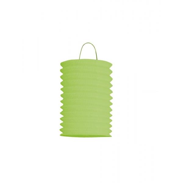 1 lampion cylindrique vert anis 13cm