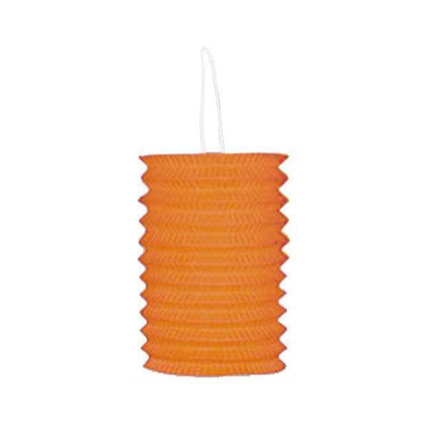 1 lampion cylindrique orange 13cm