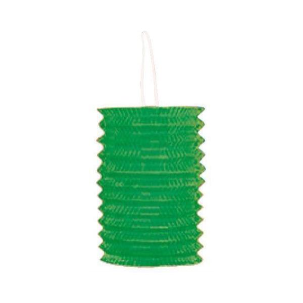 1 lampion cylindrique vert 13cm