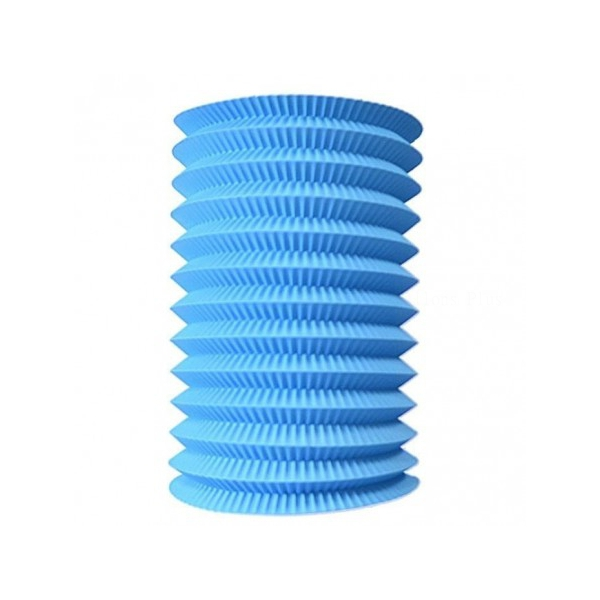 1 lampion cylindrique bleu ciel 13cm