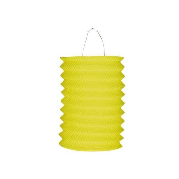 1 lampion cylindrique jaune 13cm