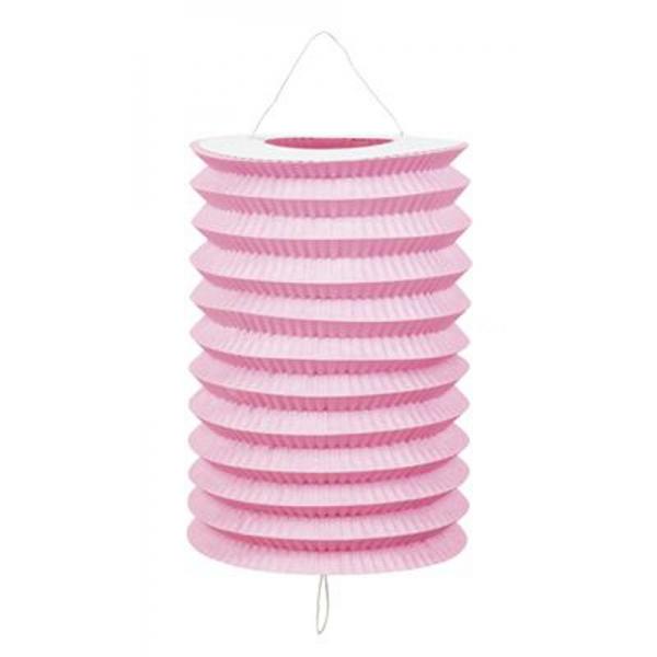 1 lampion cylindrique rose 13cm