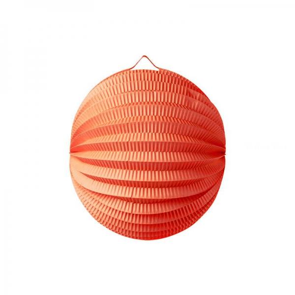 1 lampion boule orange 22cm