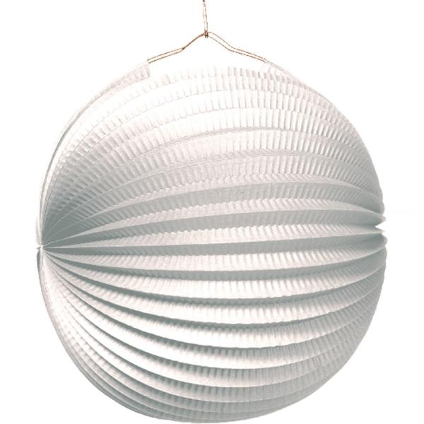 1 lampion boule blanche 22cm