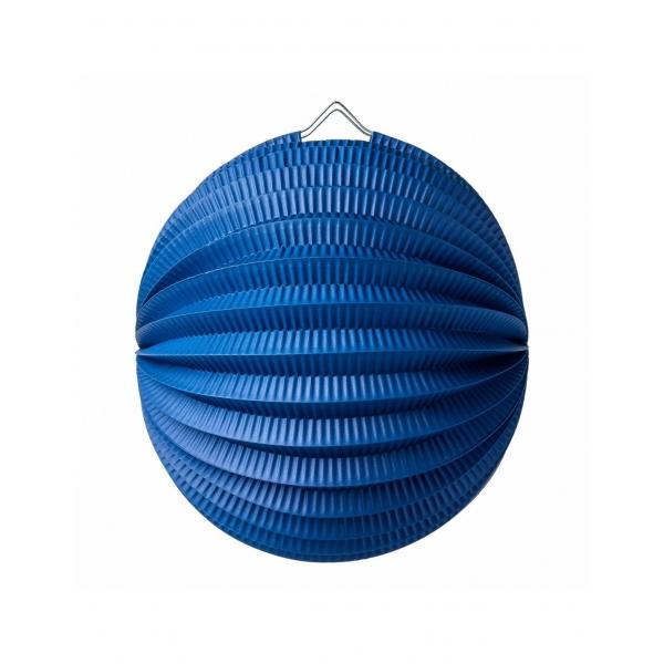 1 lampion boule bleu 22cm
