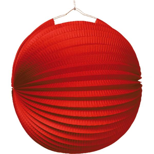 1 lampion boule rouge 22cm