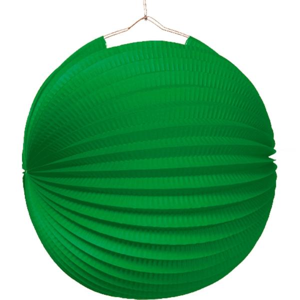 1 lampion boule vert 22cm