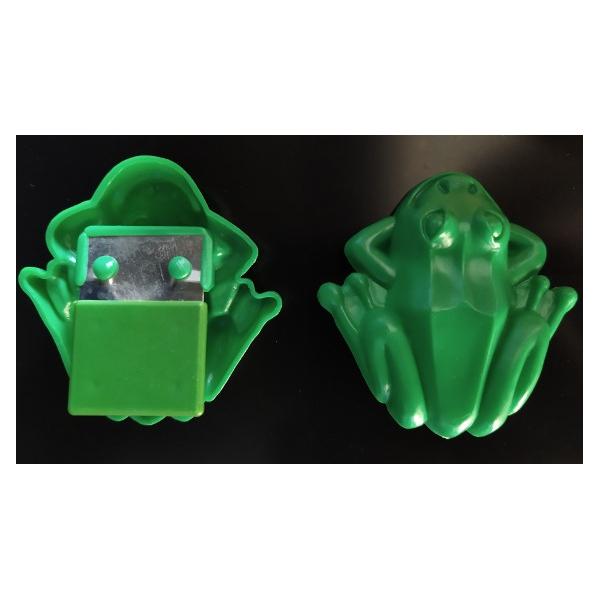 2 grenouilles sauteuses plastique 6cm