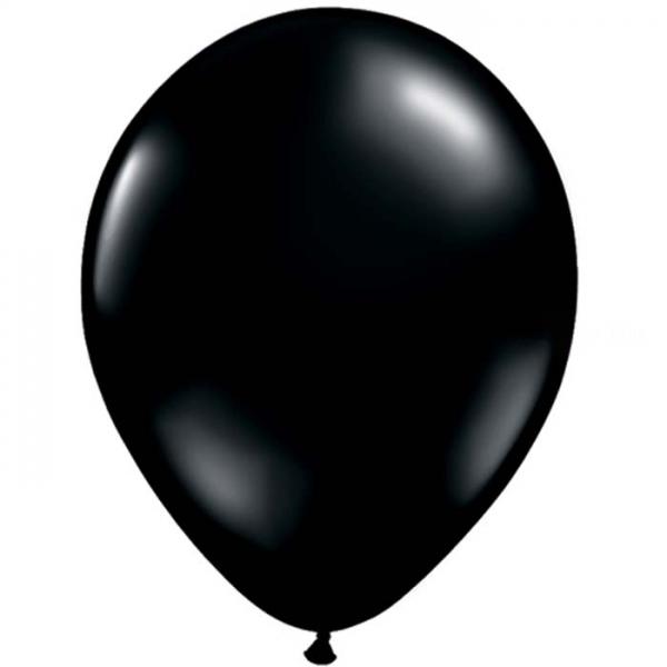 100 ballons qualatex 28 cm opaque noir