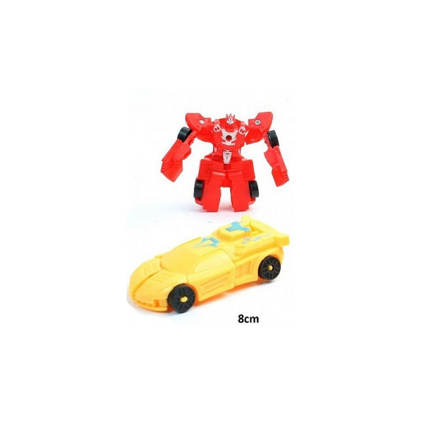 2 robots voiture transformable 8cm