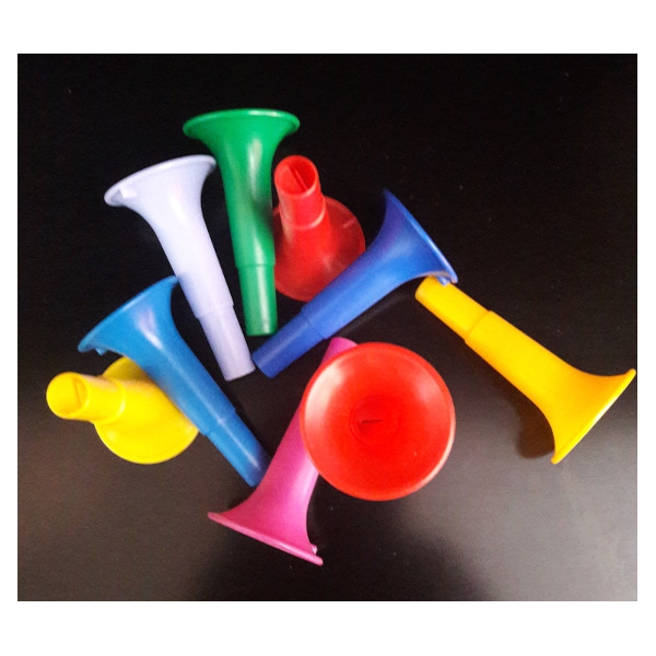 10 sifflets trompette 6cm