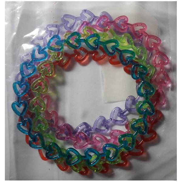 4 bracelets fantaisie coeurs