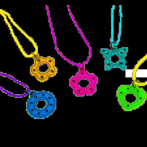 6 colliers pendentif brillant