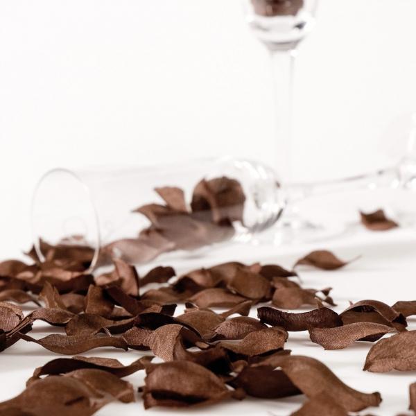 sachet de 144 petales de rose chocolat