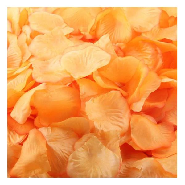 sachet de 144 petales de rose orange