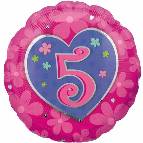 5em anniversaire rose
