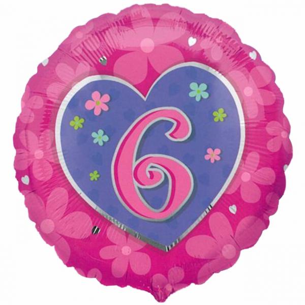 6em anniversaire rose