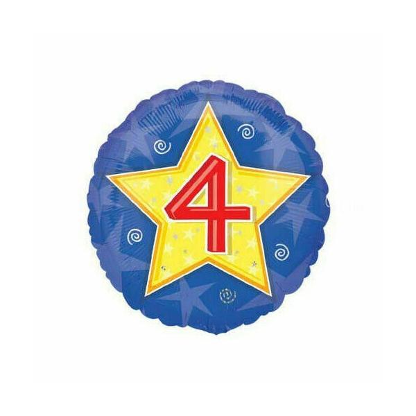 4em anniversaire bleu