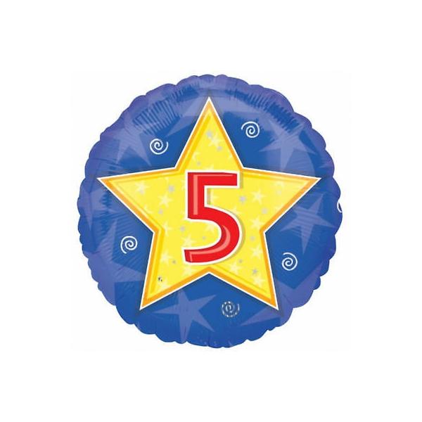 5em anniversaire bleu