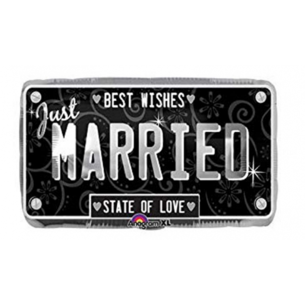 just married plaque ballon mylar