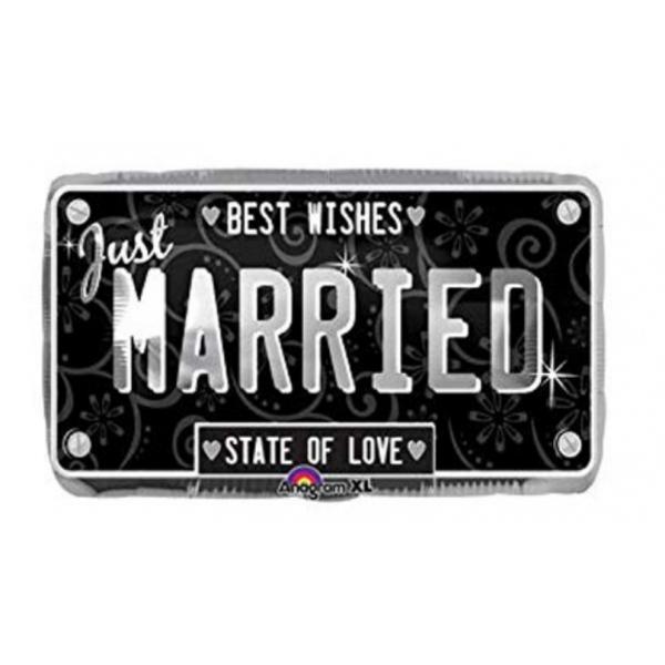 just married plaque ballon mylar