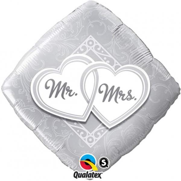 Mr Mrs mylar 45cm à plat