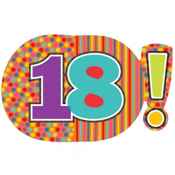18 anniversaire points et lignes 46*74cm