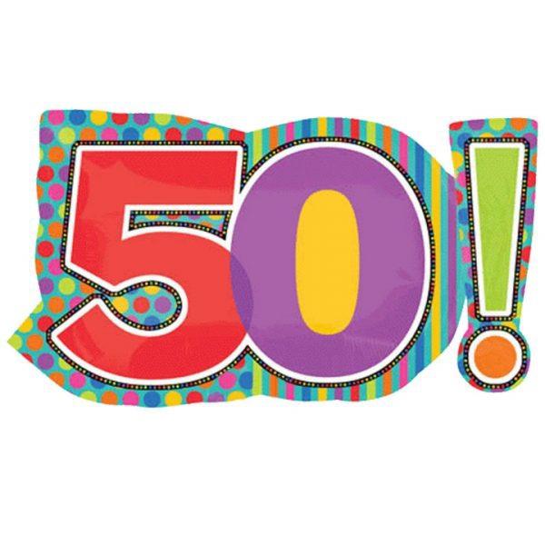 50 anniversaire points et lignes 46*74cm