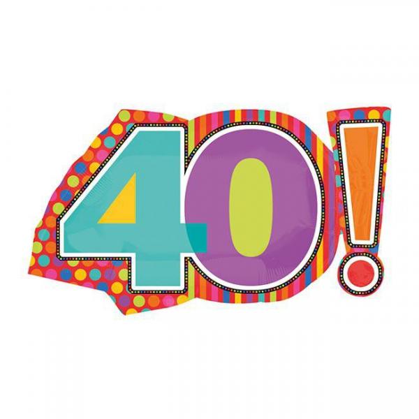 40 anniversaire points et lignes 46*74cm