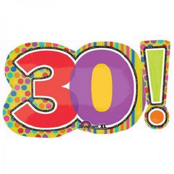 30 anniversaire points et lignes 46*74cm