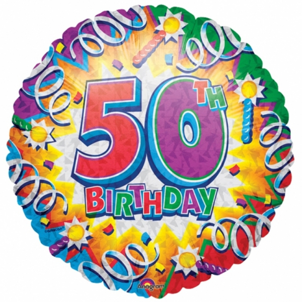 50 anniversaire Ballon métal 45 cm