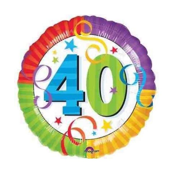 40 em anniversaire cotillons Ballon métal 45 cm