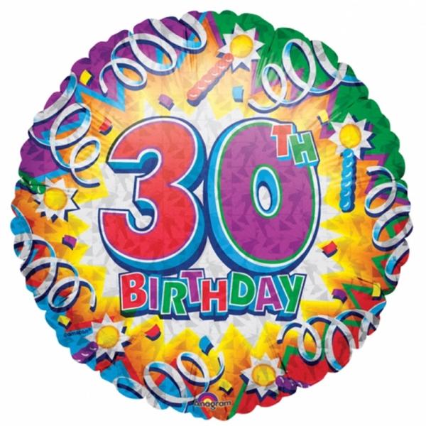 30 Birthday explosion ballon foil 45cm