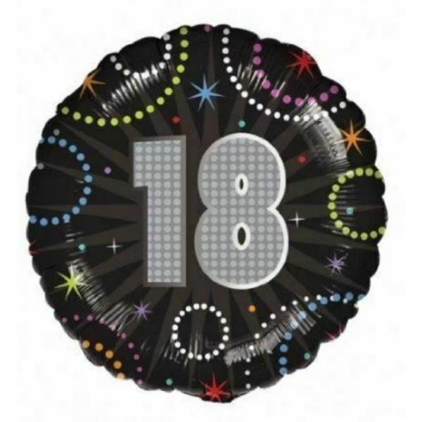 18 ballon hogographique mylar 45 cm
