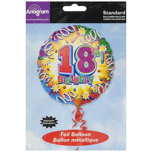 18 ballon birthday explosion mylar 45 cm