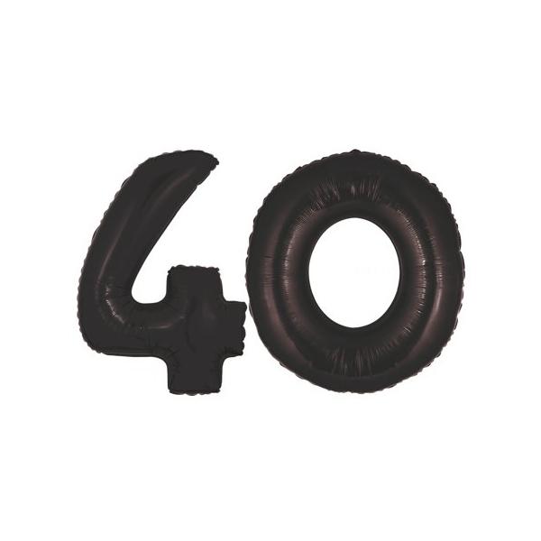 40 chiffre ballons foil 102 cm