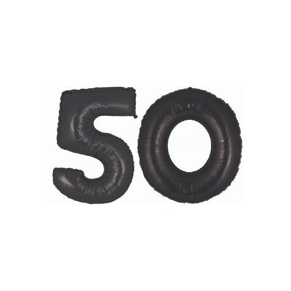 50 chiffres métal noir 102 cm