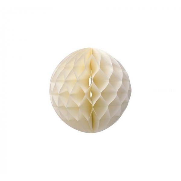 Boule papier alvéolé 32 cm ivoire