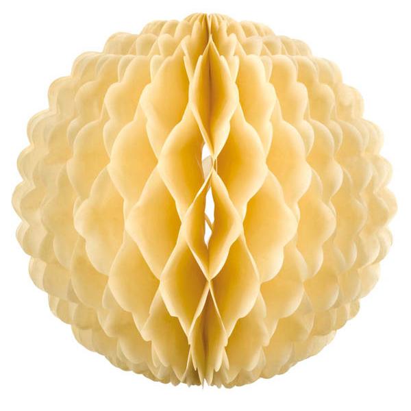 Boule papier alvéolé 32 cm champagne