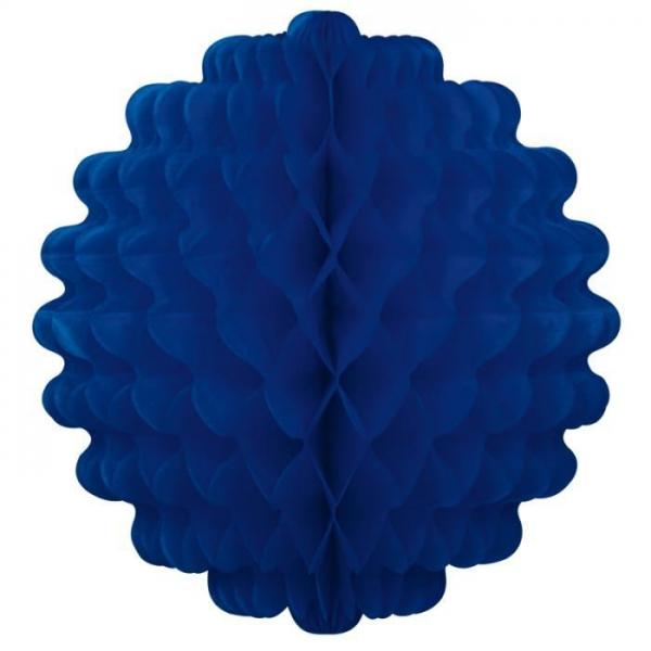 Bleu marine Boule papier alvéolé 32 cm