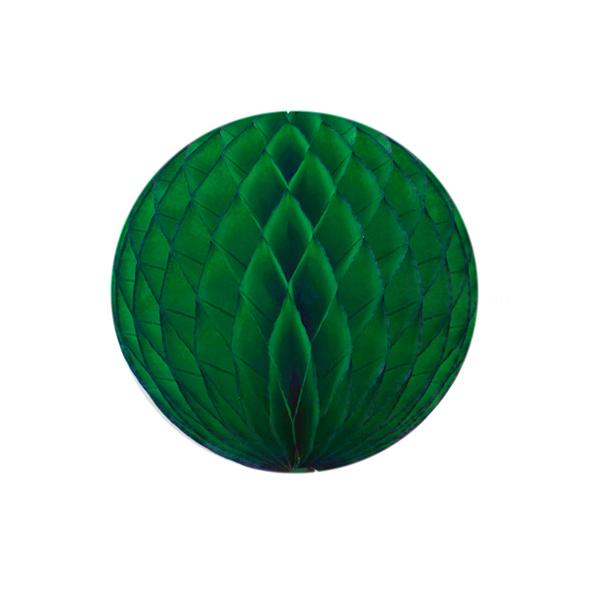 Boule papier alvéolé 32 cm vert foret
