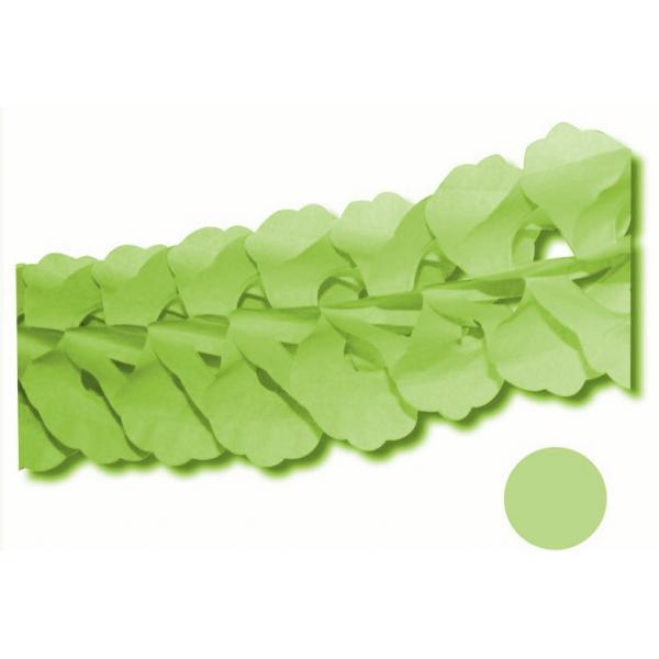 Guirlande zinia vert tilleul 4.5m ignifugé