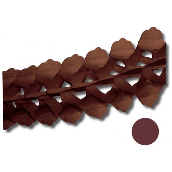 Guirlande zinia chocolat 4.m