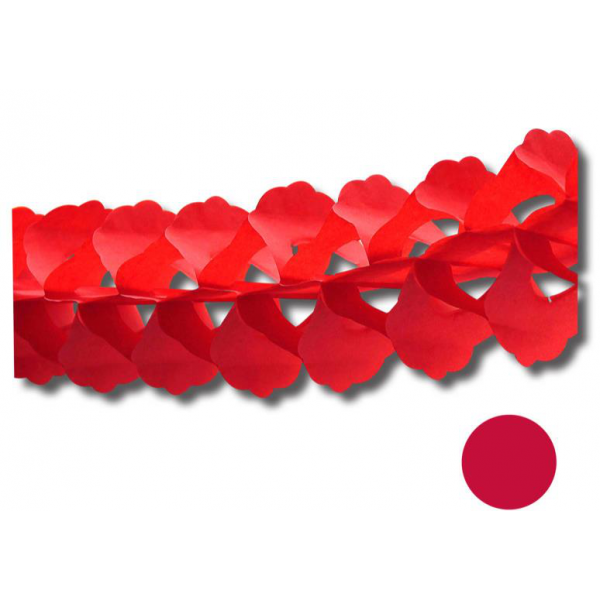 Guirlande zinia rouge 4.m