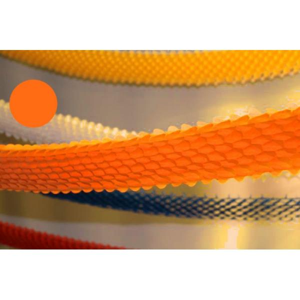 Guirlande papier boa orange 4m Ø 16cm