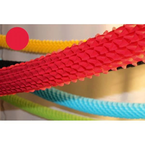 Guirlande papier boa rouge 4m Ø16cm