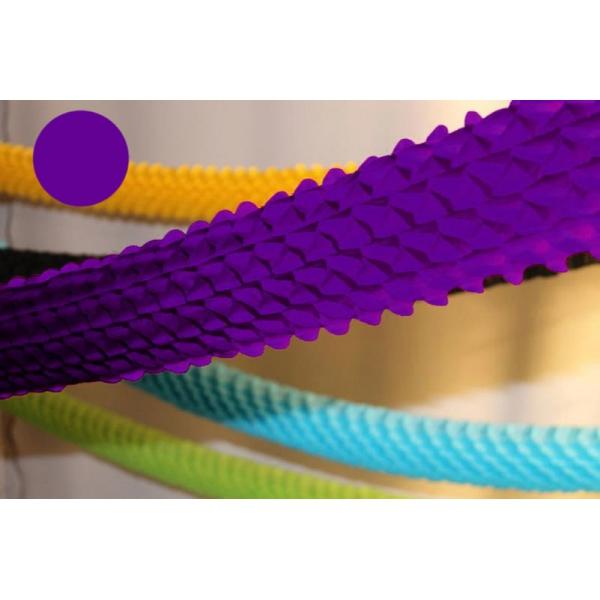 Guirlande papier boa violet 4m Ø 16cm