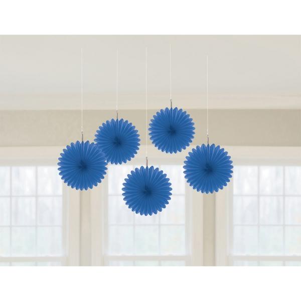 5 éventail royal bleu 15.2 cm