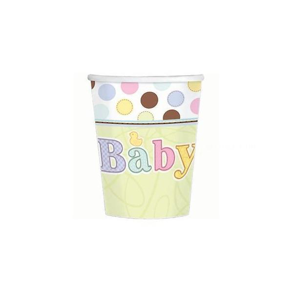 18 gobelets carton baby 266ml